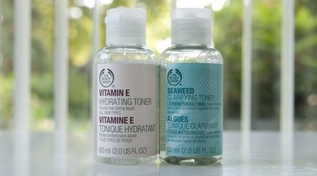 review toners the body shop seaweed vitamin E