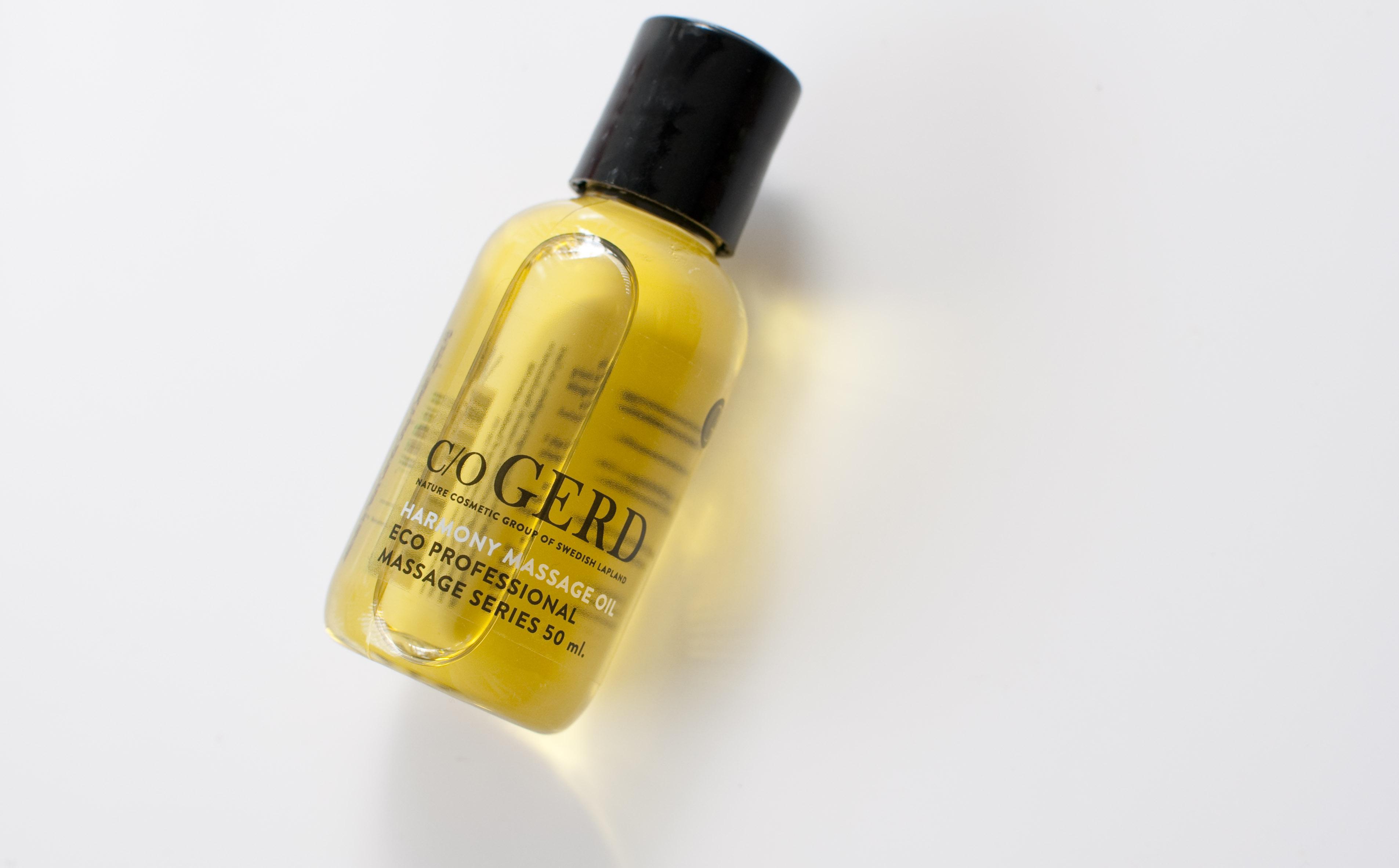 review C/O Gerd harmony massage oil