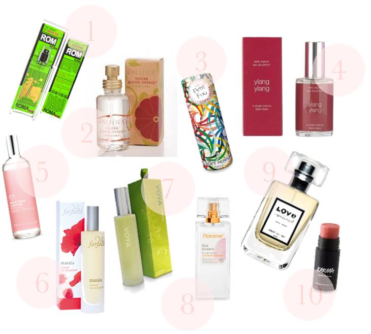 10 natural perfumes summer spring