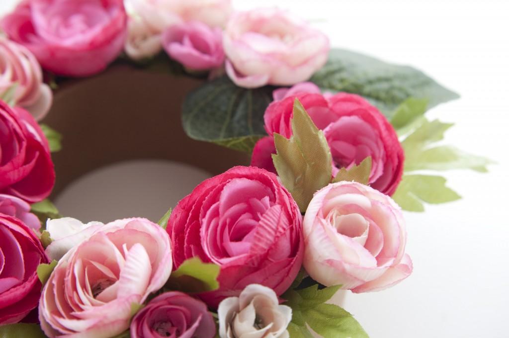 diy floral cardboard lettering