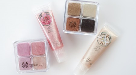 review the body shop shimmer cube rose lipgloss