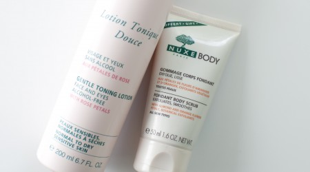 Review Nuxe Lotion Tonique Douce en Body Scrub