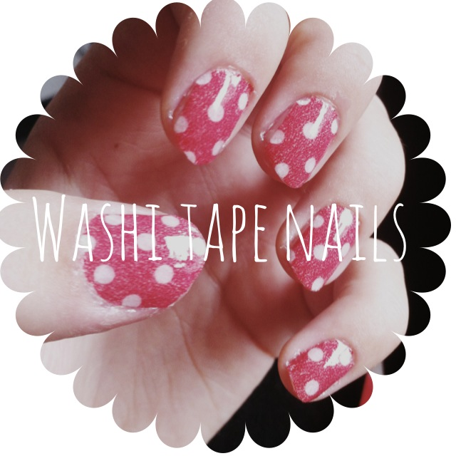 DIY Washi tape nails nagels