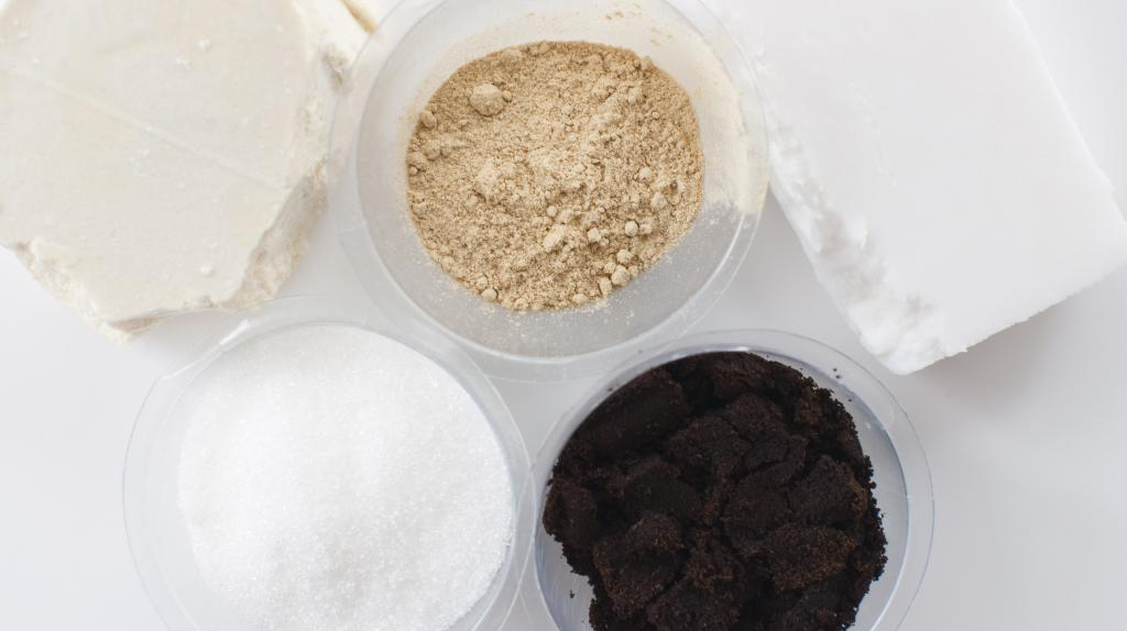 DIY solid coffee scrub