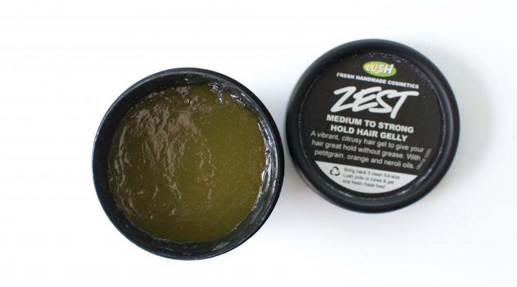 review lush zest haar gel