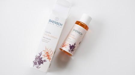 review Baensch jojoba sea buckthorn skin care oil