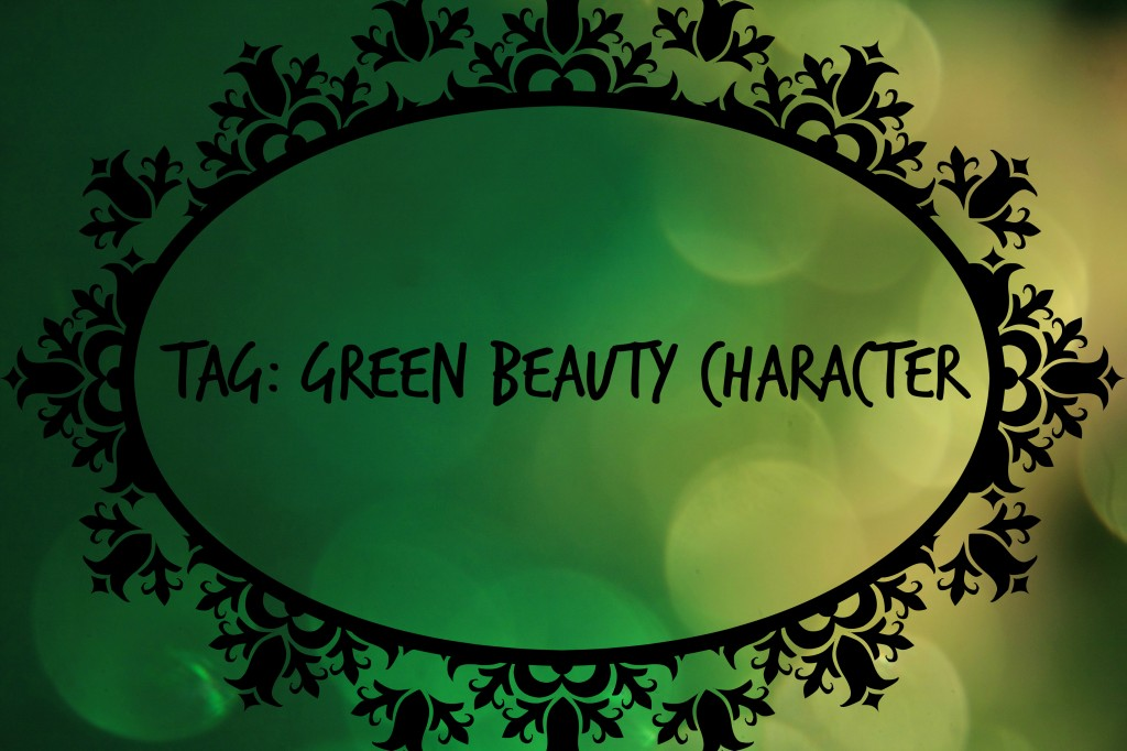 green beauty character tag