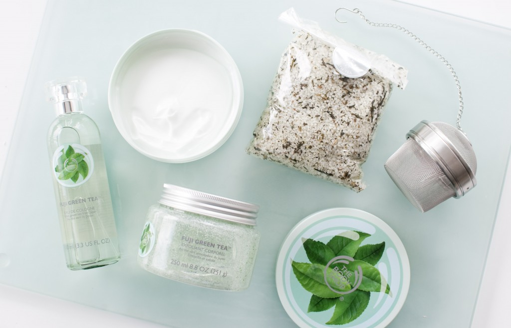 review the body shop fuji green tea