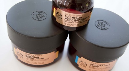 review the body shop secrets of the world scrub body butter hair oil