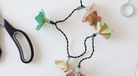diy string flower lights