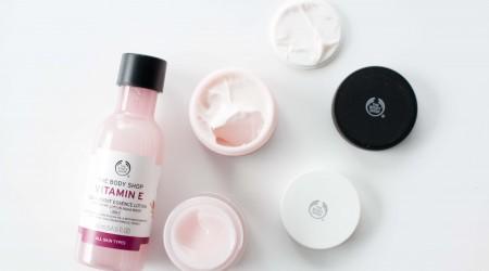 review the body shop vitamine E toner dagcrème