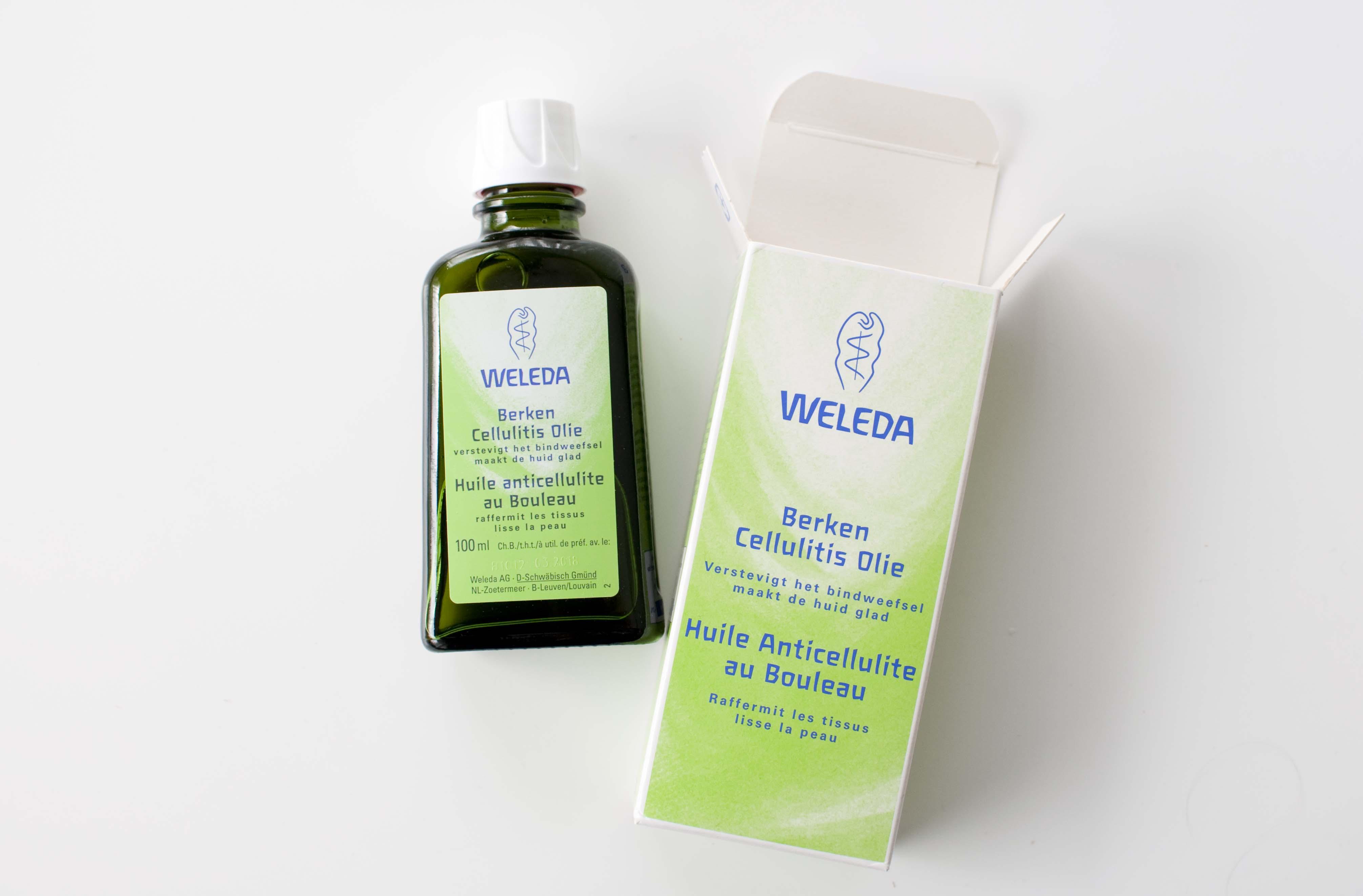 review weleda berken cellulitis olie