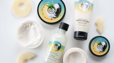 review the body shop pina colada