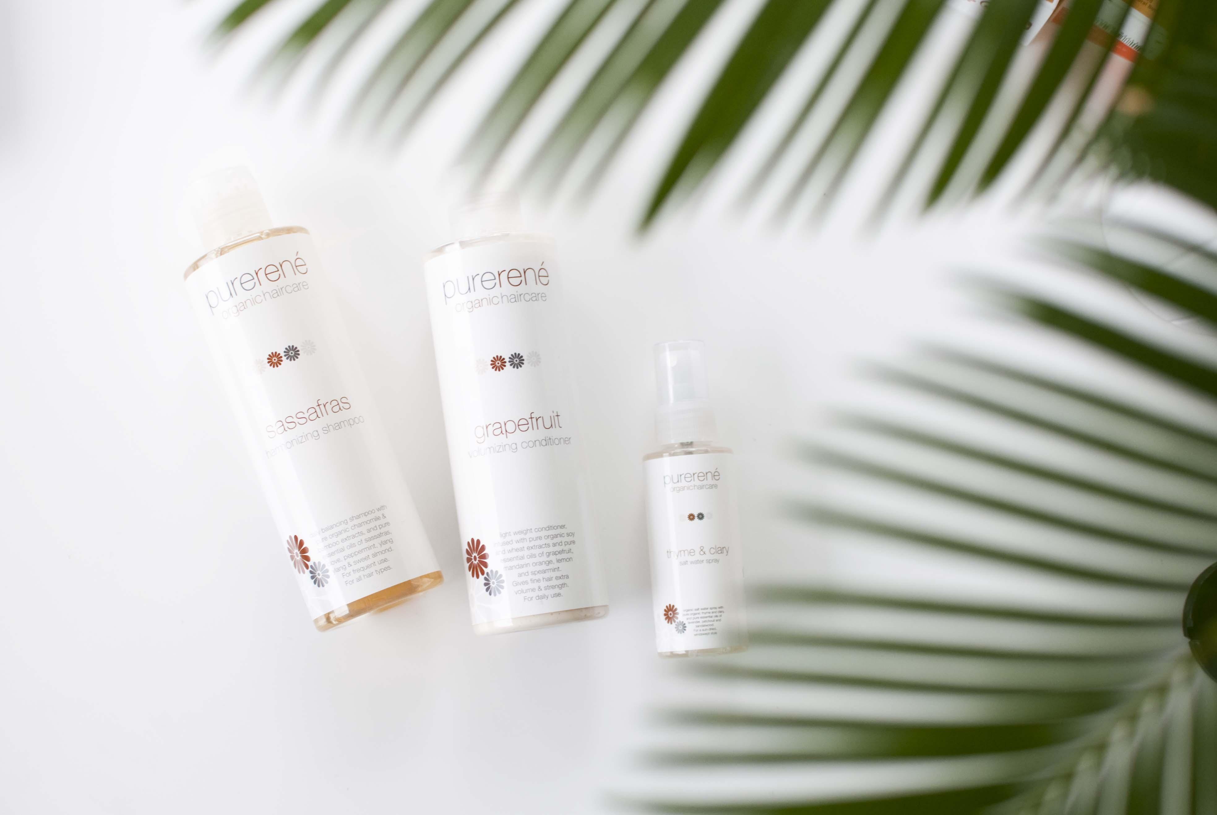 review pure renee organic hair shampoo conditioner spray