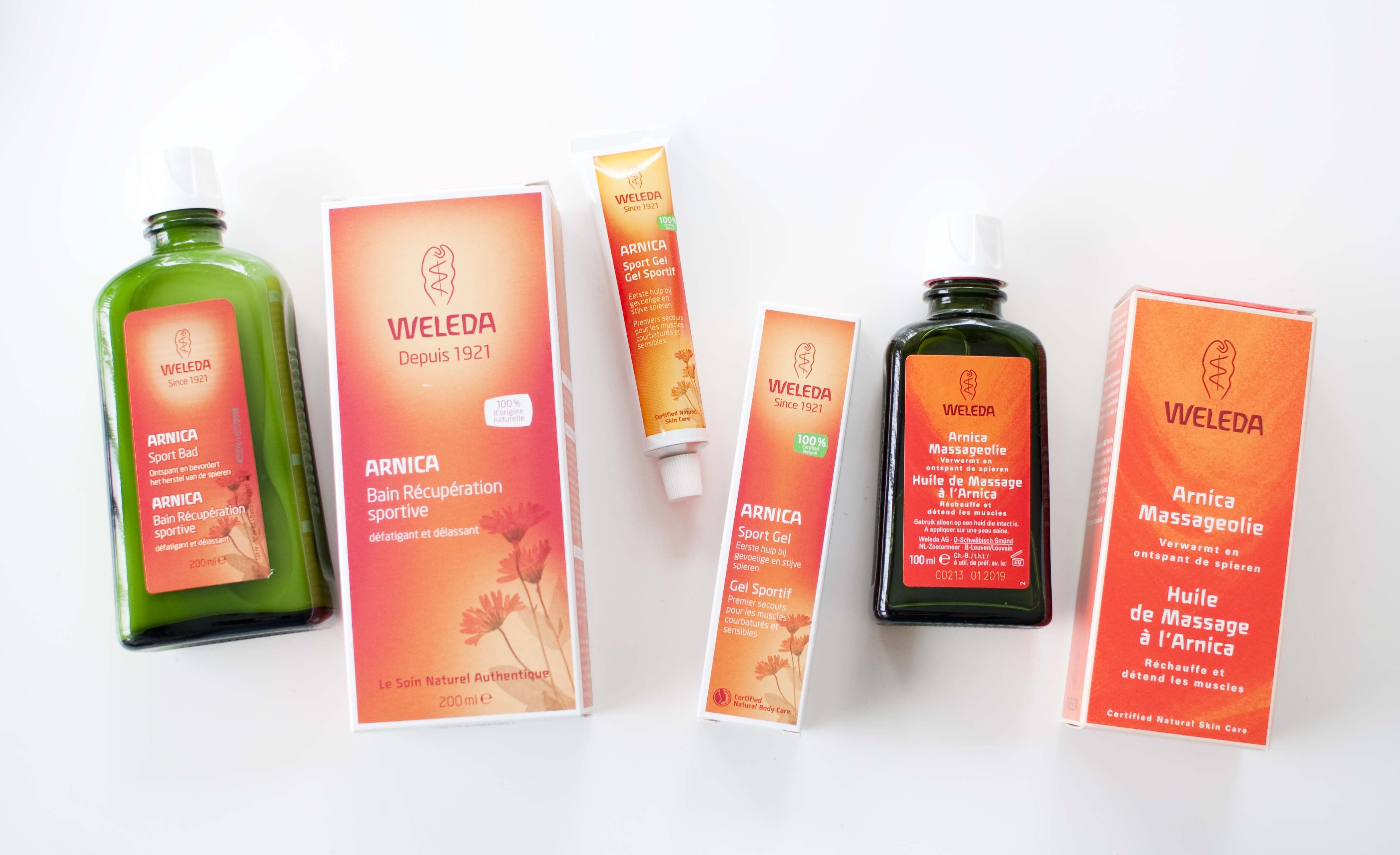 review weleda arnica bad olie gel sport