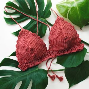 zolea crochet bikini top anemone