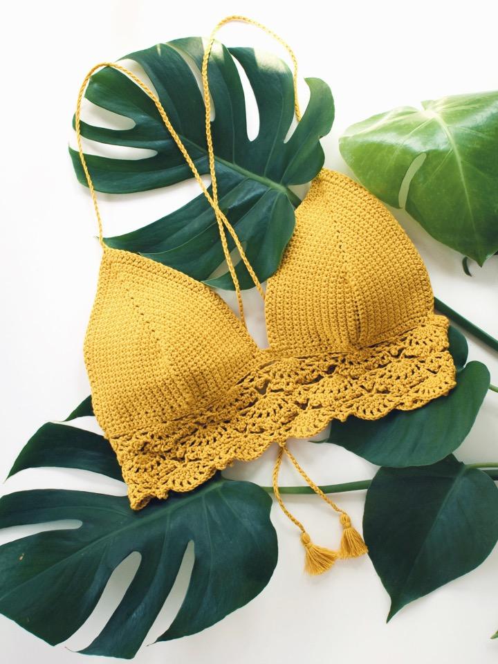 zolea crochet bikini top azalea