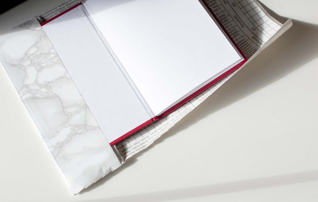 diy marble planner agenda notebook