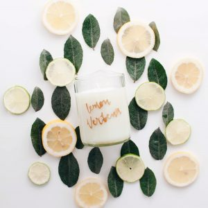 zolea geurkaars soja lemon verbena
