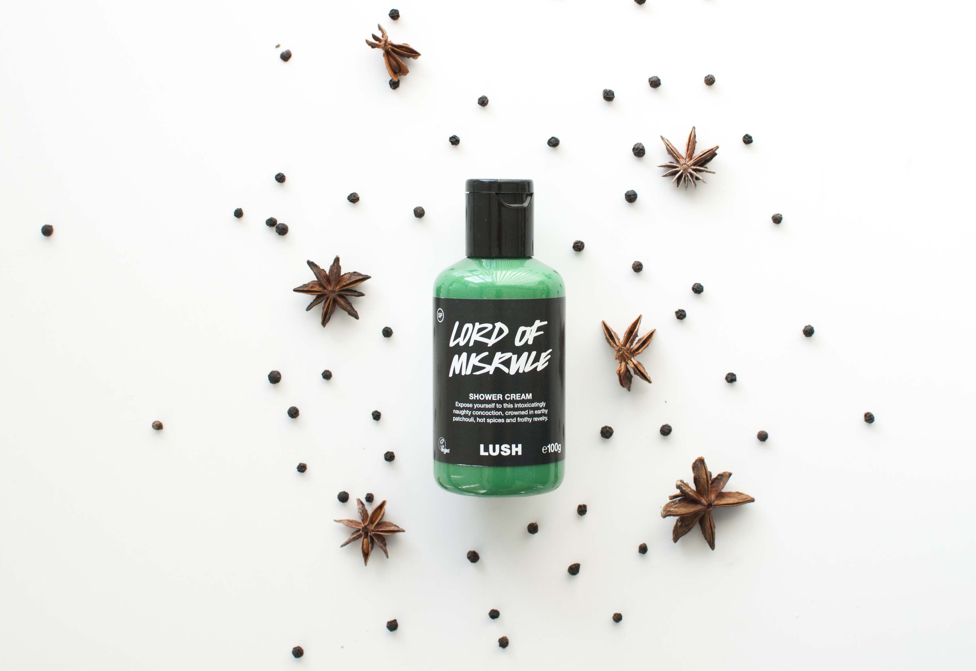 review lush lord of misrule shower cream