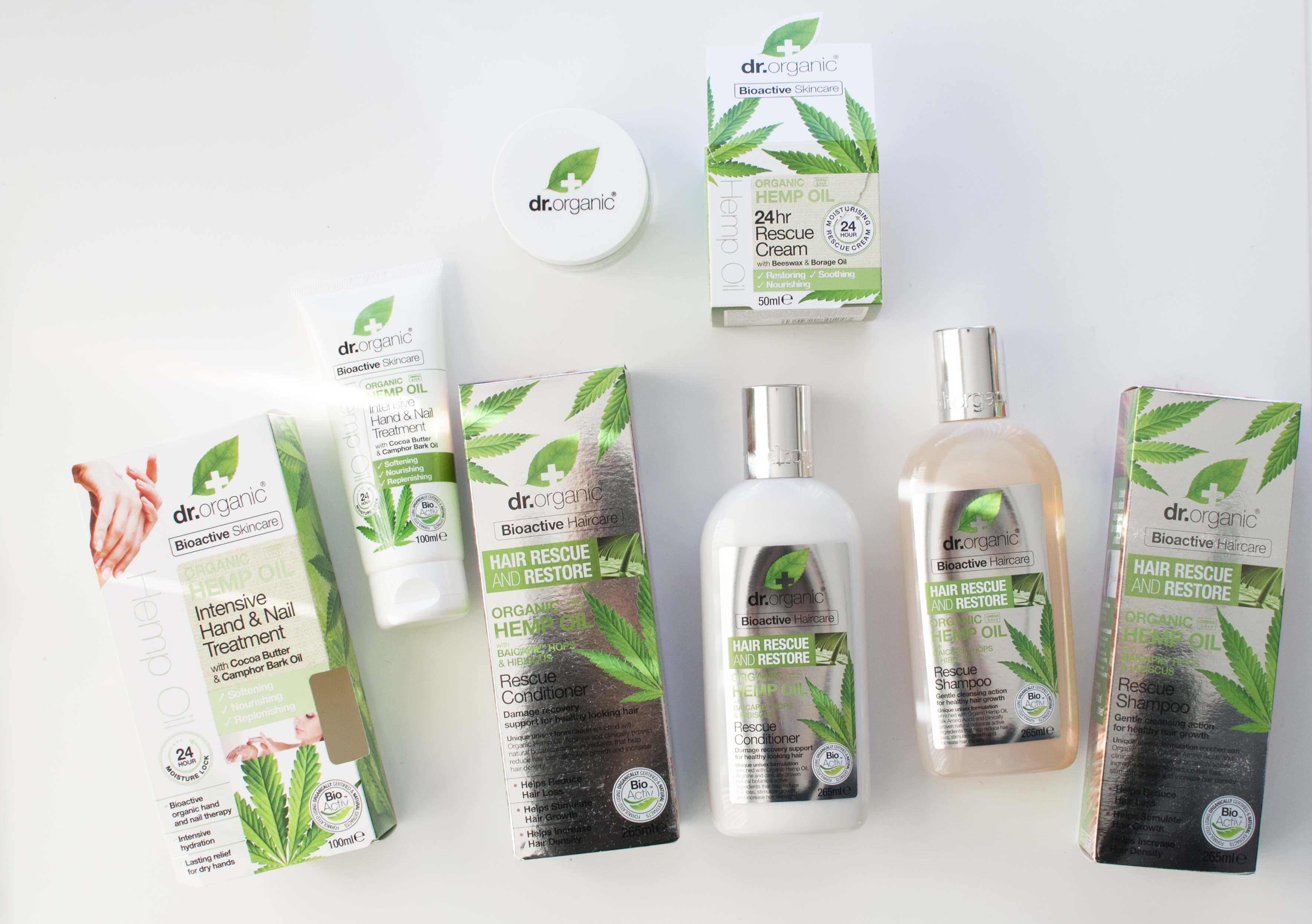 review dr organic hemp oil shampoo conditioner hand cream face cream