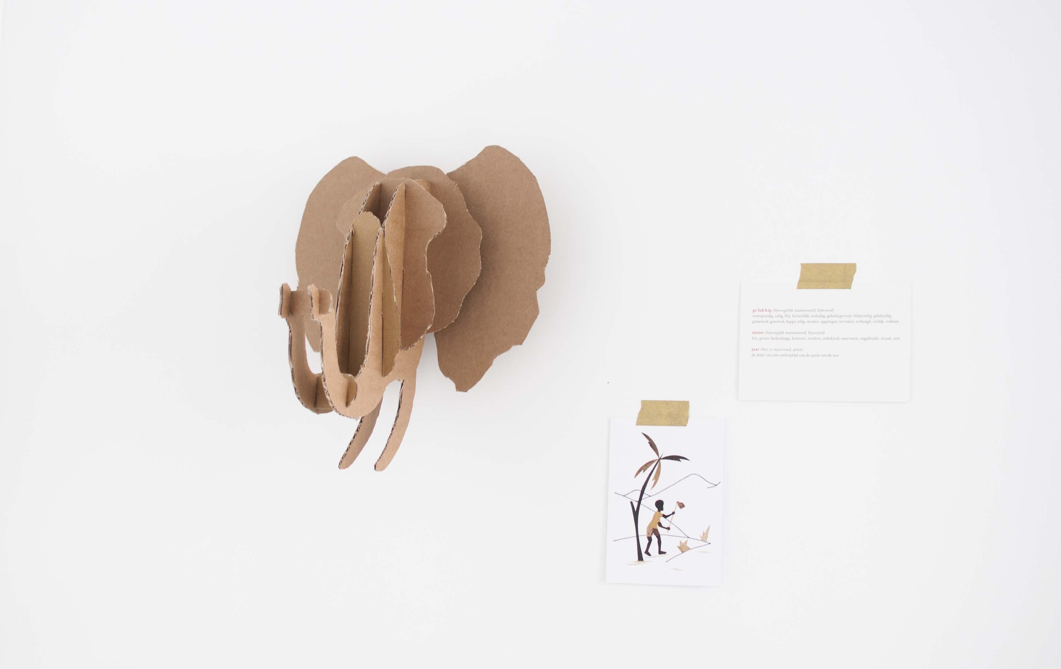 diy cardboard animal trophy head