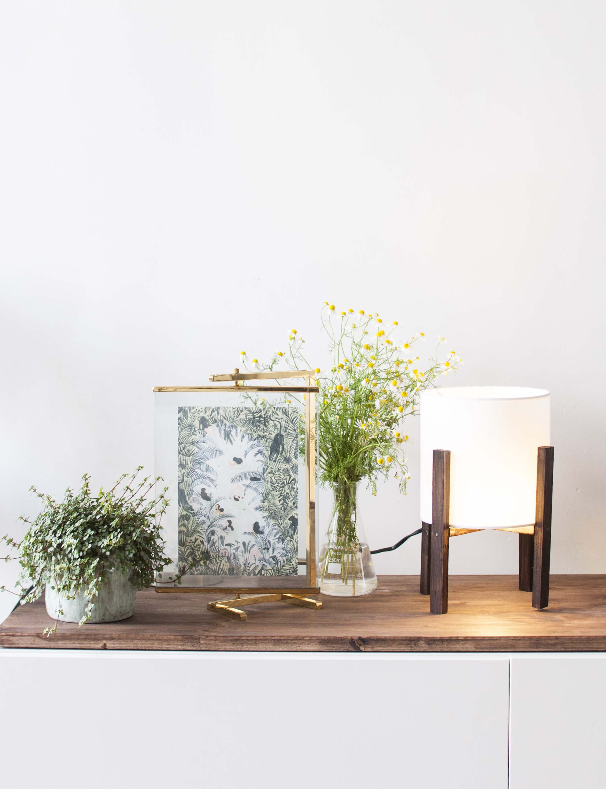 Diy modern table lamp