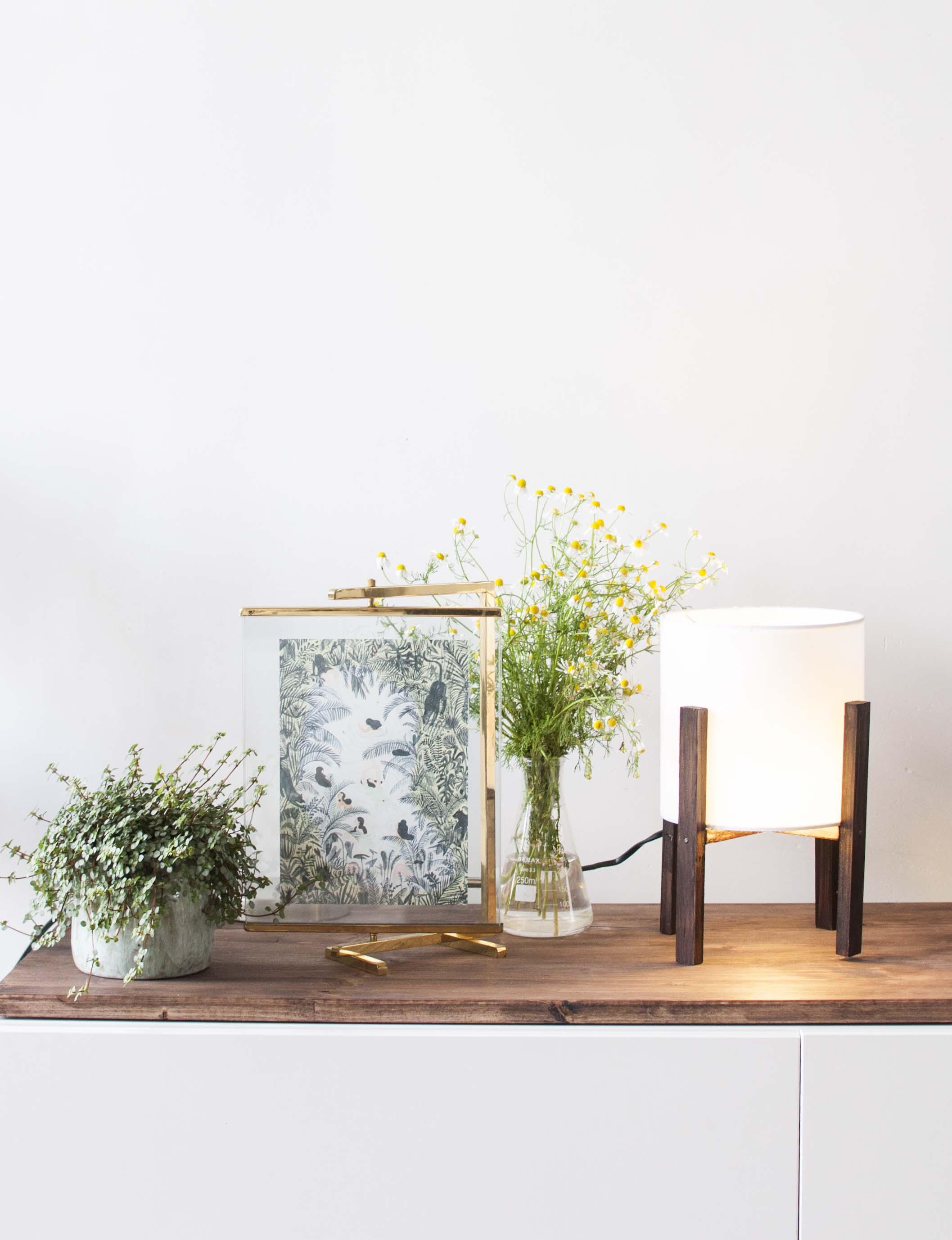 Diy modern table lamp