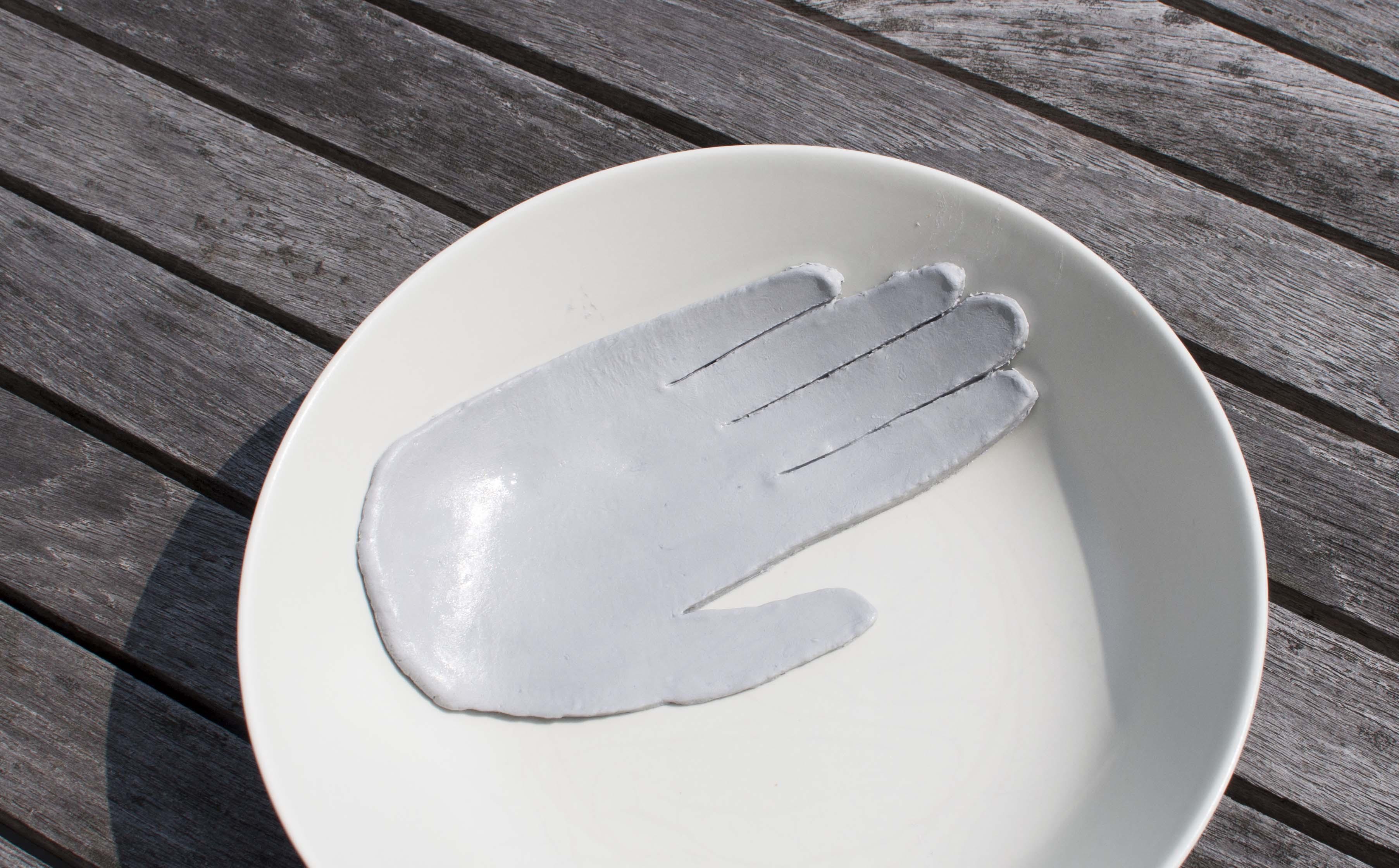 diy clay hand jewelry holder