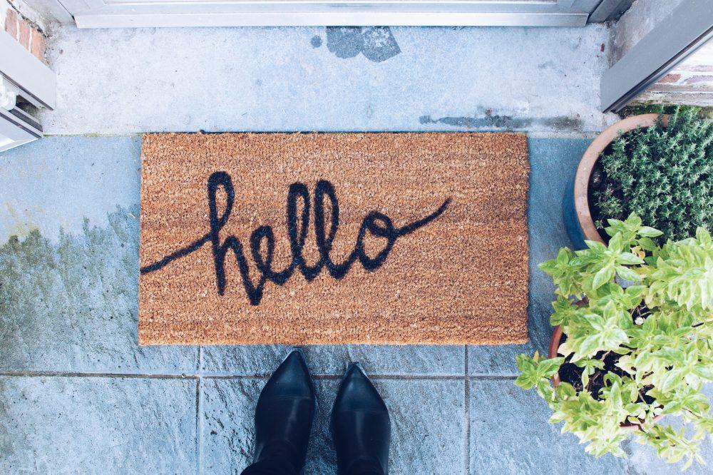 DIY Painted doormat quote customised
