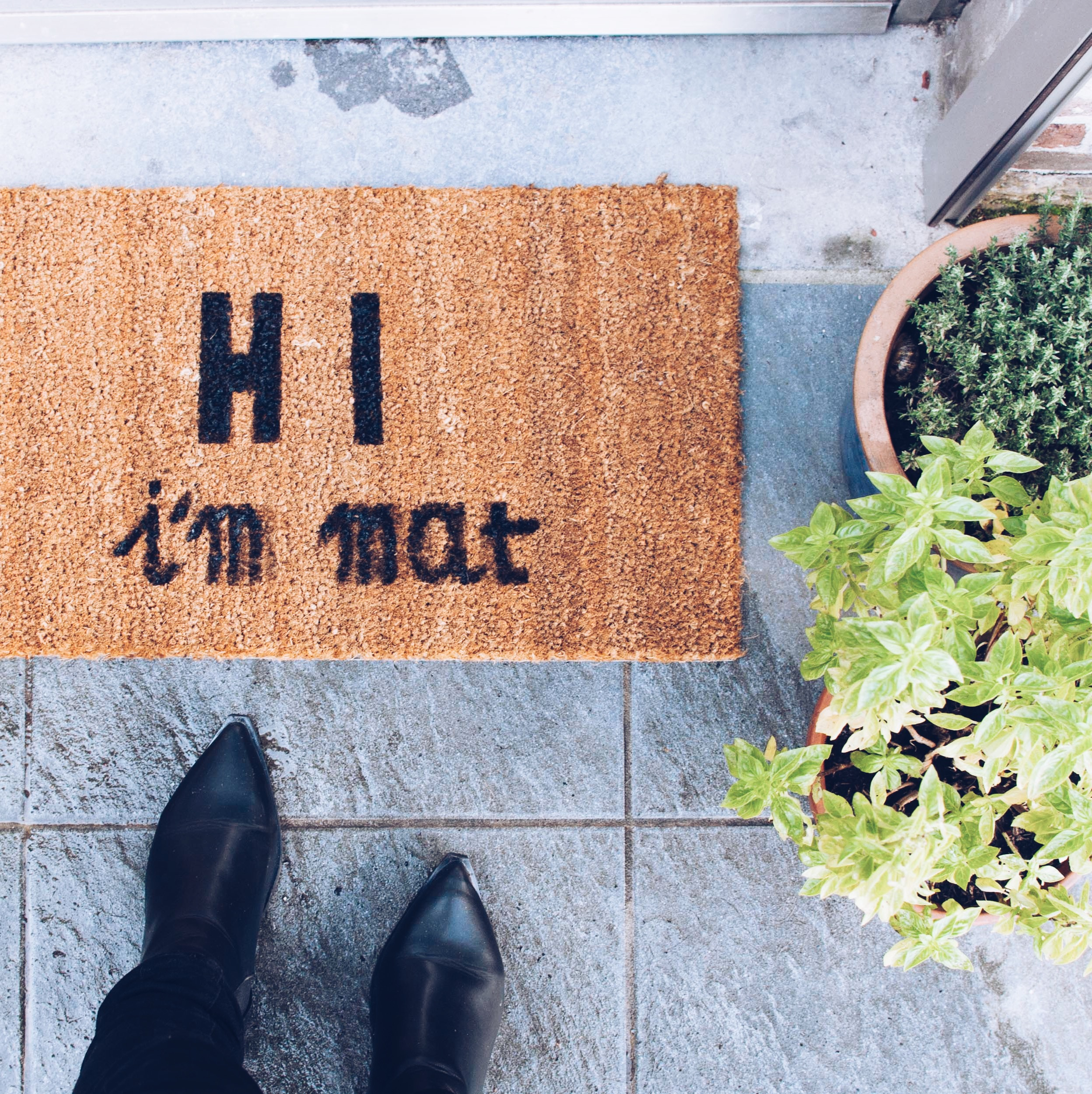 DIY Painted doormat quote customised