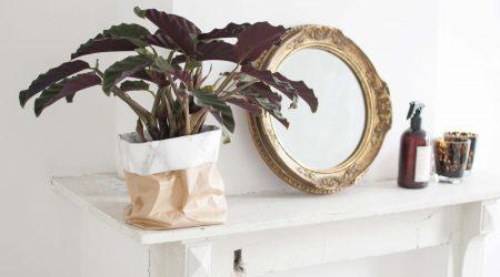 DIY kraft paper planter bag