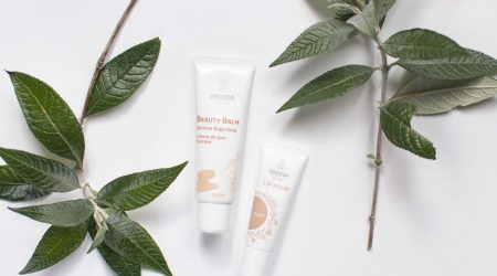 review weleda beauty balm nude colour lip balm