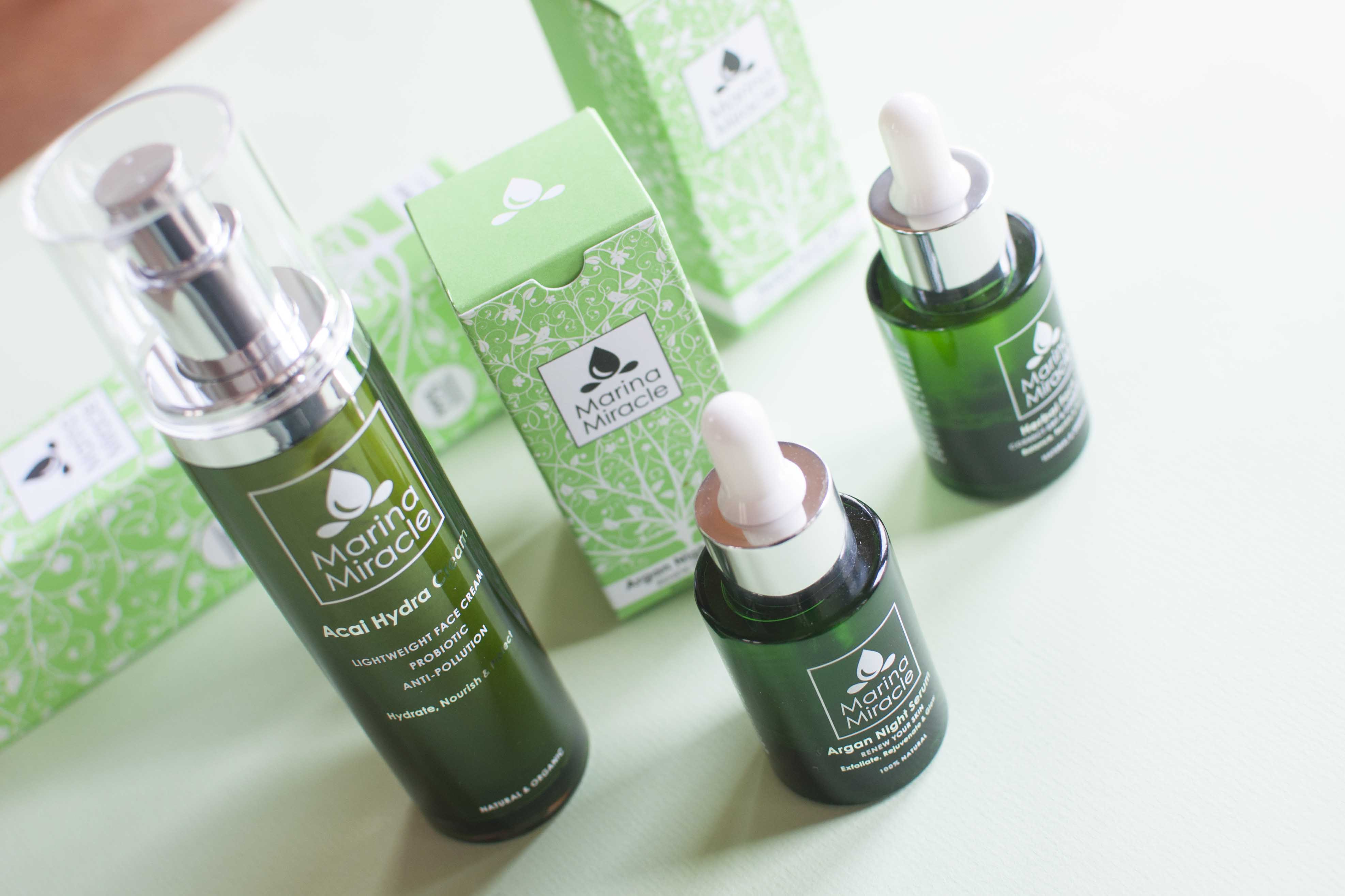 review marina miracle face cream oil argan serum