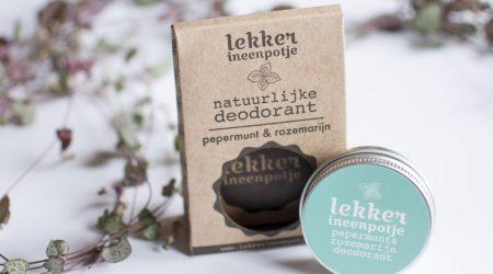 review lekkerineenpotje deodorant rozemarijn en pepermunt