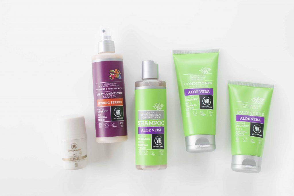 Review Urtekram aloe vera shampoo conditioner deodorant scrub