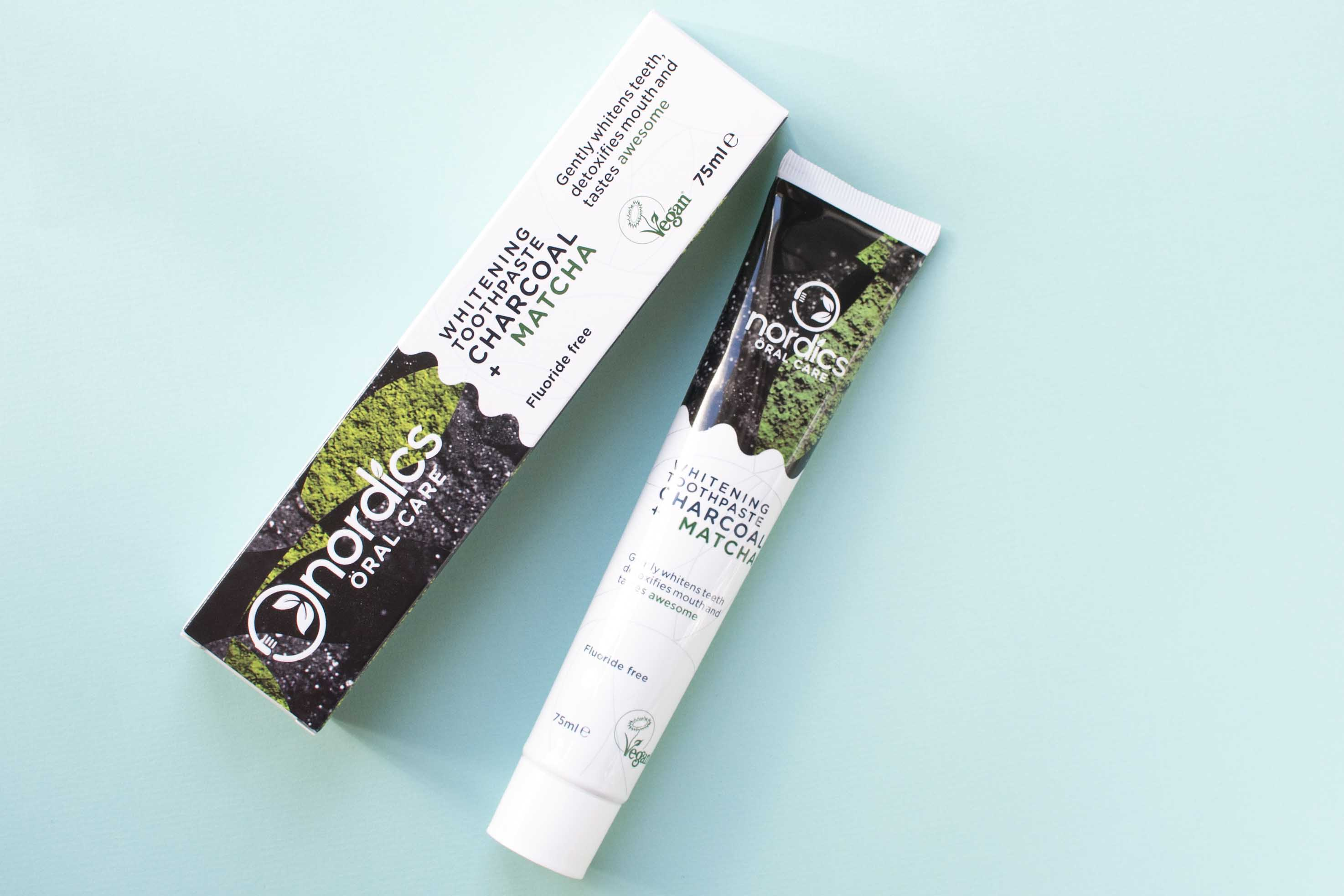 Review nordics oral care whitening toothpaste charcoal matcha