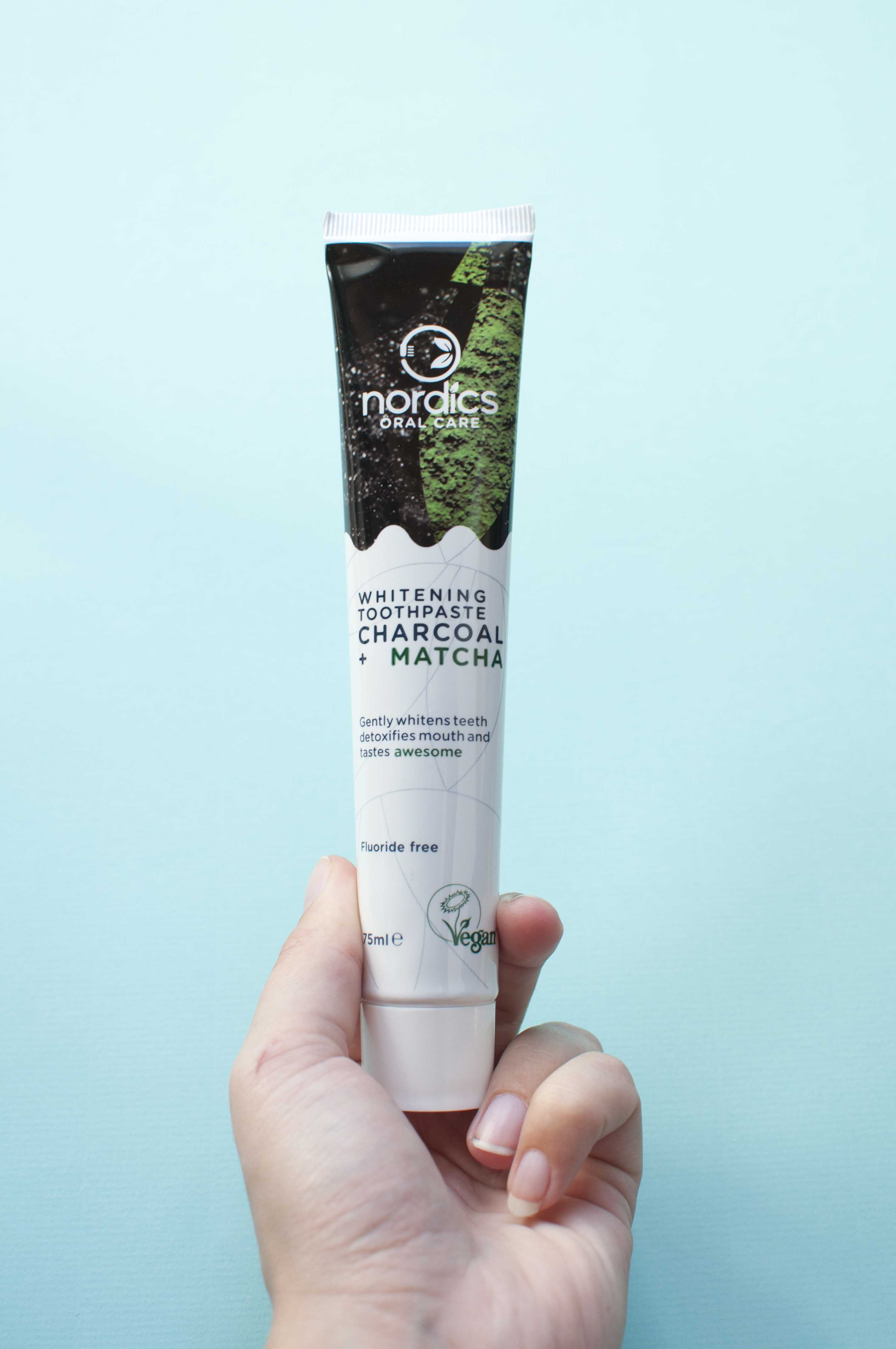 Review nordics oral care whitening toothpaste charcoal matcha_1