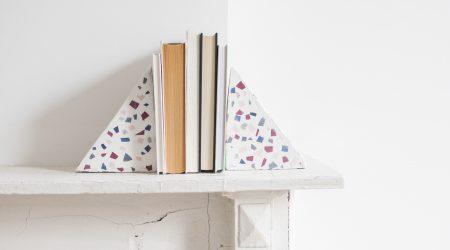 DIY terrazzo boekensteun