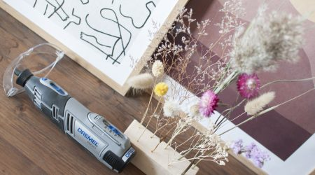 DIY Dremel flower display