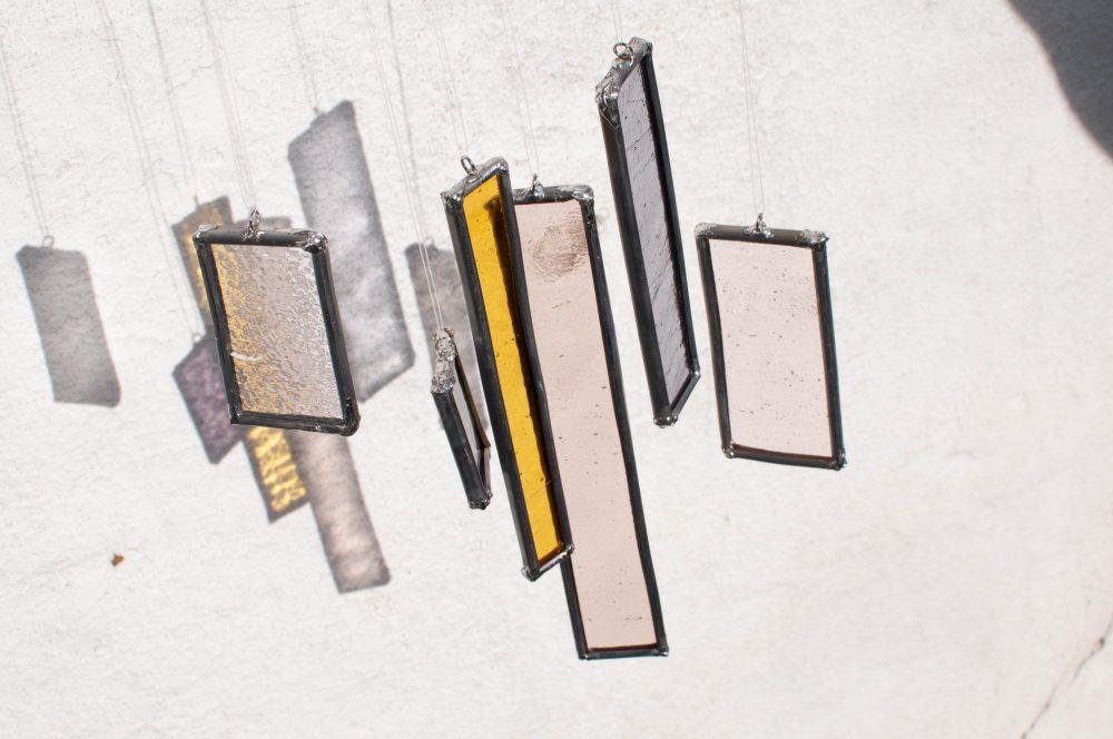 DIY stained glass sun catcher glas in lood dremel versatip